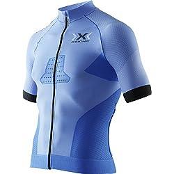 X-Bionic Race EVO Biking Shirt- Camiseta para hombre, Azul (Marina Blue/Anthracite), Extra-large