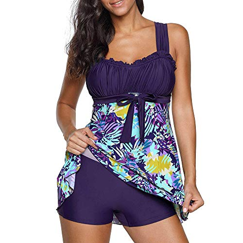 9c20e268f12aff Riou Bademode Damen Tankinis Große Größen Sexy Push Up Bikini Sets  Zweiteilige Farbverlauf Badeanzug Strandkleidung mit