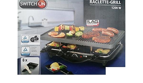 Qvc Wmf Elektrogrill : Amazon.de: raclette grill raclettgrill switch on tischgrill mit 8