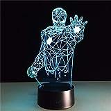 Super Hero Iron Man Half-Body 3D Led Night Light Action Figure 7 Colori Touch Illusione Ottica Lampada Da Tavolo Modello Decorazione Della Casa