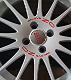 OZ Racing WRC Aufkleber Sticker Felgenaufkleber Set Rot (15