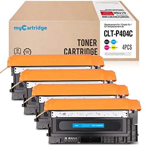 Mycartridge 4 kompatibel Samsung CLT-P404C Toner für Samsung Xpress C480FW C480W C480 C480FN C430 C430W (Schwarz/Cyan/Magenta/Gelb) -