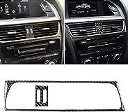 TANN 2 in 1 Car Carbon Fiber Air Conditioning Air Outlet Frame Decorative Sticker for Audi A4 B8 2009-2016 / A