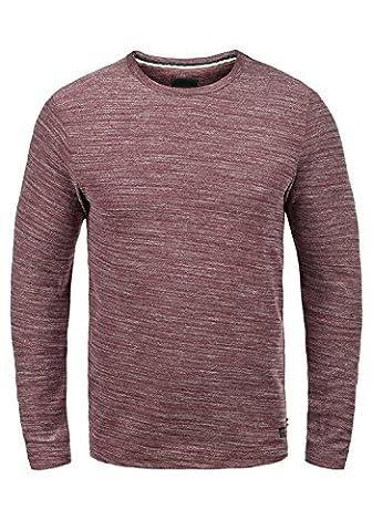 PRODUKT Pantaleon Sweat-Shirt Longsleeve O-Neck, Größe:M, Farbe:Port