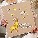 SESO UK- Creative Interstitial Fotoalbum, Jubiläum Hochzeit Baby Wachstum Memo Familienalben, für 600 Fotos mit Einer Größe von 6x4/10.2x15.2cm (4D) (Farbe : Beige)