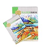 #8: Kurtzy A4 & A3 Watercolor Pad Drawing Sketch Book for Artist Spiral Painting Activity Note for Kids Children