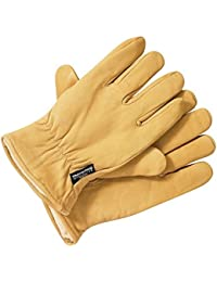 Dickies Gl0200 Lined Leather Glove Tan Large