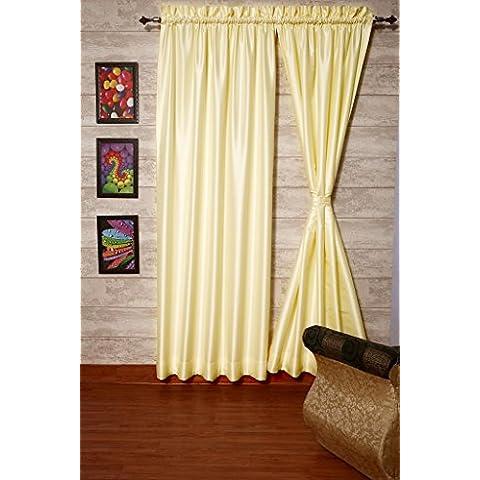 Marfil satén de seda Dupioni sintética cortinas, elección de piezas, anchura y longitud elección con grueso forro de raso por zappycart., 78