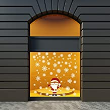 Vinilo Adhesivo Decora tu escaparate Vinilo para Escaparates Decoraci/ón Feliz Navidad Pegatinas Adhesivas Escaparate 100 cm de Largo x 100 cm de Alto Vinilos para Negocios