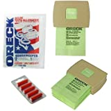 Oreck Canister Handheld Vacuum Cleaner Bags and 5 Fresheners (Pack of 12)