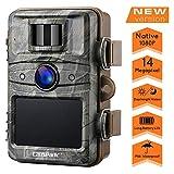 Campark Wildkamera 14MP 1080P mit bewegungsmelder No-Glow nachtsicht 2.4' LCD Wasserdicht IP66 Jagdkamera Wildtierkamera für Überwachung Sicherheit