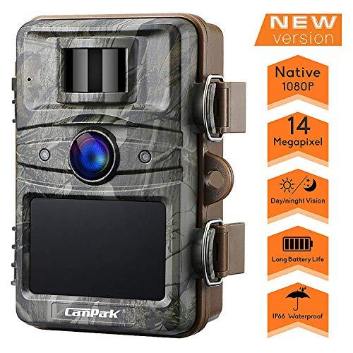 """Campark Wildkamera 14MP 1080P mit bewegungsmelder No-Glow nachtsicht 2.4\"""" LCD Wasserdicht IP66 Jagdkamera Wildtierkamera für Überwachung Sicherheit"""