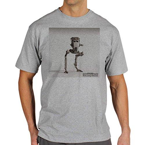 Star Wars Battlefront Jedai Yedi Game AT AS Background Herren T-Shirt Grau