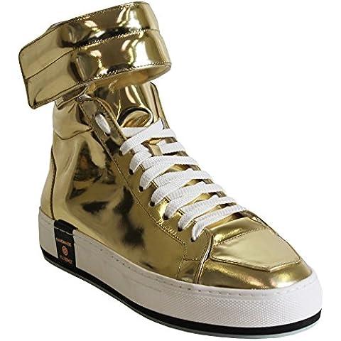 Le Village Scarpe Sneakers Specchio Platino Alte fatte a mano