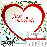 LionSports – Festliches Hochzeitsherz zum Ausschneiden – Perfektes Hochzeitsspiel für eine Traumhafte Hochzeit + Geschenk – Komplimente zum Verschenken– Dieser Hochzeitstag Wird unvergesslich