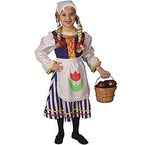 Dress Up America Disfraz de niña Holandesa Pequeño Niña