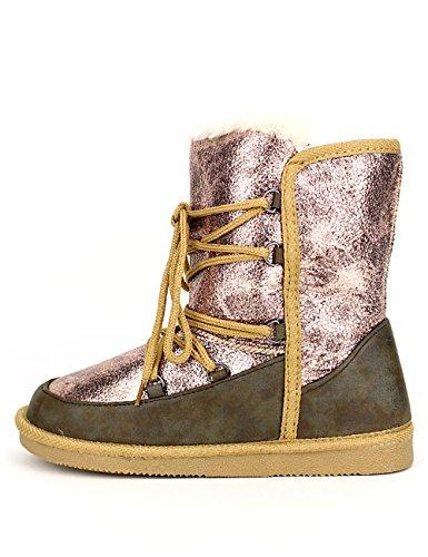 Cendriyon Boots Fourrée UGGUS Colors Champagne Rosé Chaussures Femme