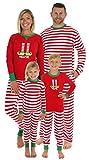 Sleepyheads Damen Weihnachtself Schlafanzug, Streifen (SHM-5013-W-STRIPE-EU-2X)