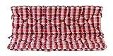 Ambientehome 3er Bank Sitzkissen und Rückenkissen Hanko, kariert rot, ca 150 x 98 x 8 cm, Bankauflage, Polsterauflage