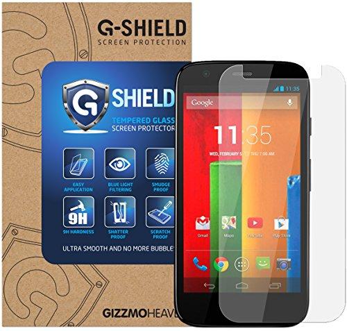 Moto G (1st Gen / 2013 Edition) Schutzfolie Gehärtetem Glas Displayschutzfolie G-Shield Screen Protector Panzerglas Displayschutz Anti-Kratz Ultra Klar 9H Härte 0.33mm