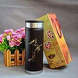 GAOHUI Männer China Wind Tasse Tee Edelstahl Gesundheit Natural Purple Sand Vakuum Thermische Schale Fahrzeug Business Office Geschenk Cup 350 Ml- Farbe