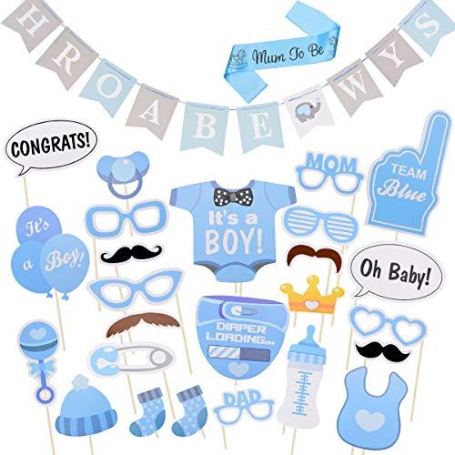 X-Mile 93 Stück Foto Booth Props Fotoaccessoires Fotorequisiten Set Design SchärpeDekorationen Requisite für Geburtstag/Party/Baby-Show/Requisiten verkleiden sich