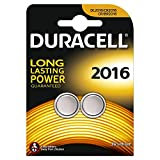 Duracell Specialty Type 2016 Lithium Coin Battery, Pack of 2
