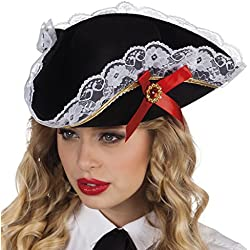 Sombrero de pirata para mujer, talla única.