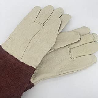 Nutley's Quality Ladies Leather Gauntlet Gardening Gloves Handmade Leatherware Thornproof