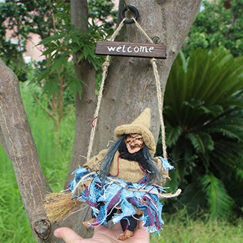 esen-Aufhänger-Hanfseil-Hexe-Halloween-hängende Dekoration für Hauptpartei-Dekor, blau ()
