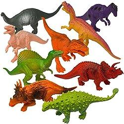 Dinosaurios de Juguete de Aspecto Realista Prextex (18cm) Pack Variado de 12 Figuras Grandes de Dinosaurio de Plástico