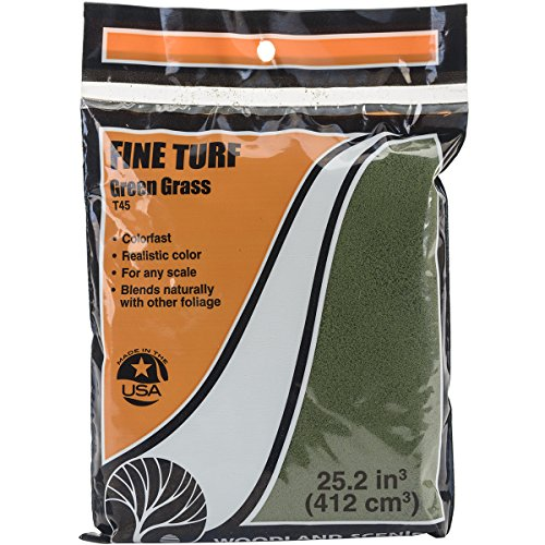 Turf-green Grass (Woodland Scenics Turf 18bis 25,2Cubic inches-green Gras, fein)