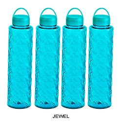 Steelo Jewel Water Bottle, 1000ml, Set of 4, Turkish Blue