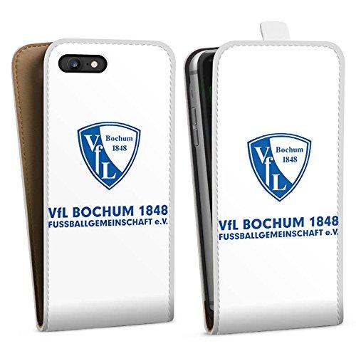 Apple iPhone X Silikon Hülle Case Schutzhülle VfL Bochum Fanartikel Bundesliga Downflip Tasche weiß