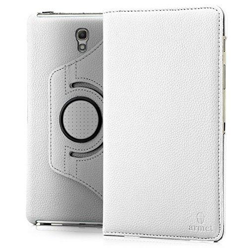 Preisvergleich Produktbild Saxonia 360° Tasche für Samsung Galaxy Tab S 8.4 Hülle - Schutzhülle Tablet Case Auto Sleep/Wake-Funktion | 360° drehbar, in Weiß