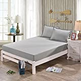 AVI Set of 2 Pcs Waterproof and Dustproof King Size Fitted Mattress Protector-72x72 (Grey)
