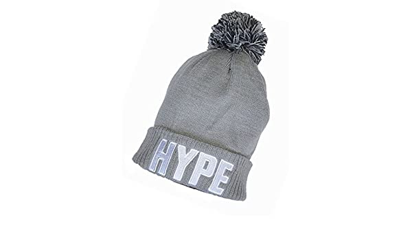 bf7294ab890 Wigwam Cool New Embroidered Beanie bobble hat HYPE grey  Amazon.co.uk   Garden   Outdoors