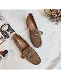 GAOLIM La Cabeza Gruesa Y Con Solo Zapatos Femeninos De Soja De Primavera Y Otoño Zapatos Con Tacones Altos Chica.