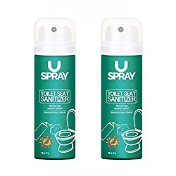 Uspray toilet seat sanitizer is a simple, safe, effective and instant toilet seat sanitizer that ensures germ free and safe toilet experience. It offers protection against germs, fits your pocket, is travel friendly, light weight, mild and has a plea...