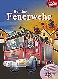 Bei der Feuerwehr: Malbuch mit leicht löslichen Metallic-Stickern