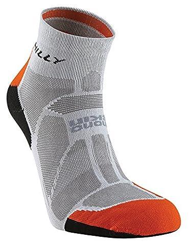 Hilly Marathon Fresh Chaussettes Homme Gris/Orange/Noir FR : L (Taille Fabricant : taille 3)