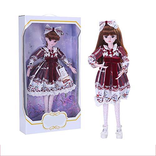 l Rotes Kleid 60 cm Dress Up Hochzeitskleid Prinzessin Puppe Anzug Geschenkbox Mädchen Spielzeug Gemeinsame Puppe Kind Spielkamerad Puppe ()