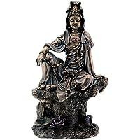 Summit Figura Decorativa de la Estatua del Budismo de Kuan Yin de Agua y Luna de