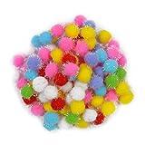 #6: Asian Hobby Crafts Multi Color Pom Pom Balls - 100 Pieces