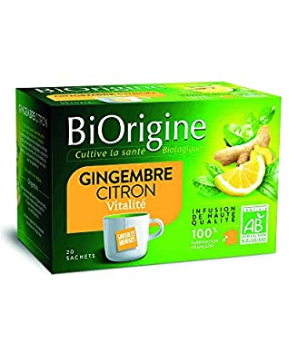 BiOrigine Infusion Gingembre Citron 25 g - Lot de 6