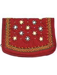 Art Godaam Hand Stiched Cotton Embroidery Clutch - B07CNX7W99