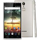 "Doogee F5 4G Lte - Smartphone Libre Android (Pantalla 5.5"" Phd, HotKnot, 3G Ram 16G Rom, Octa Core, Fingerprint Id, Carga Rápida, Cámara 13Mp, Xender), Dorado"