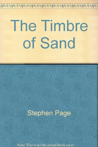 The Timbre of Sand par Stephen Page