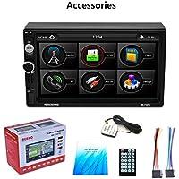 """Gugutogo Multifuncional coche MP5 de DVD con 7"""" HD LCD de pantalla táctil con RDS y BT y del espejo de Enlace y GPS Función RK-7157G azul"""
