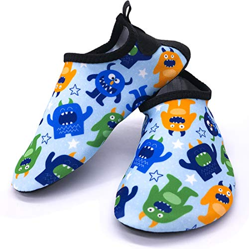 00641a71 Dream Bridge Zapatillas de Agua para niños niñas Escarpines de Verano  Zapatillas de Playa Piscina Surf Water Shoes (Monstruito)